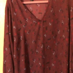 Lane Bryant floral blouse. Only worn twice